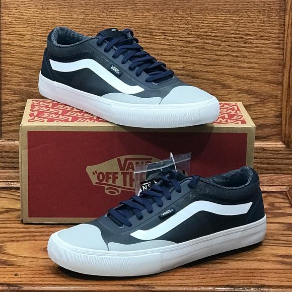 37c86e03851ba9 Vans AV Rapidweld Pro Dress Blues White Shoes